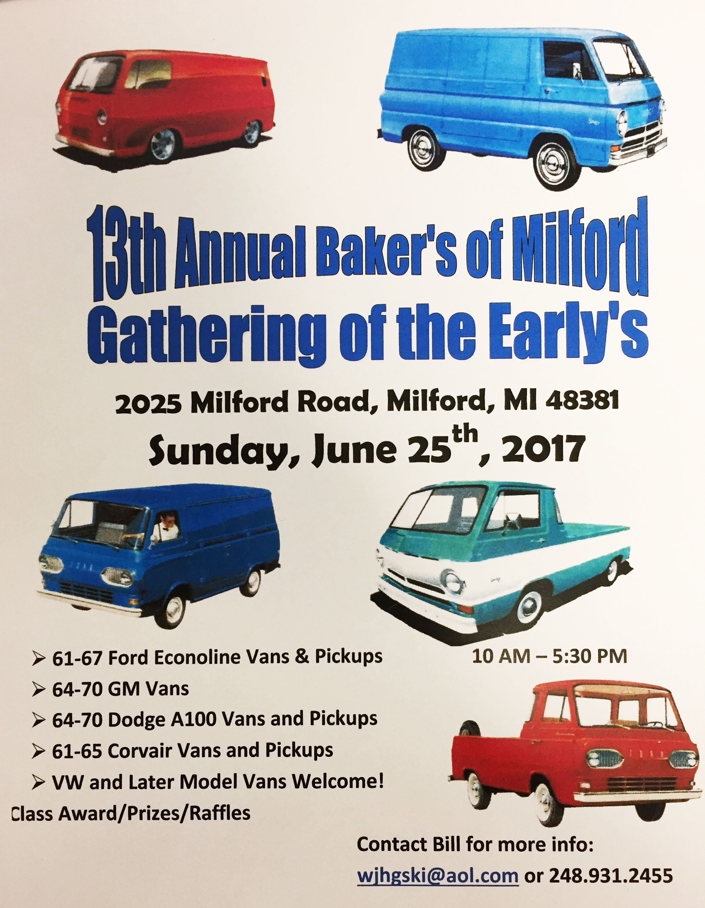 13th annual Baker's of Milford Gathering of the Early's