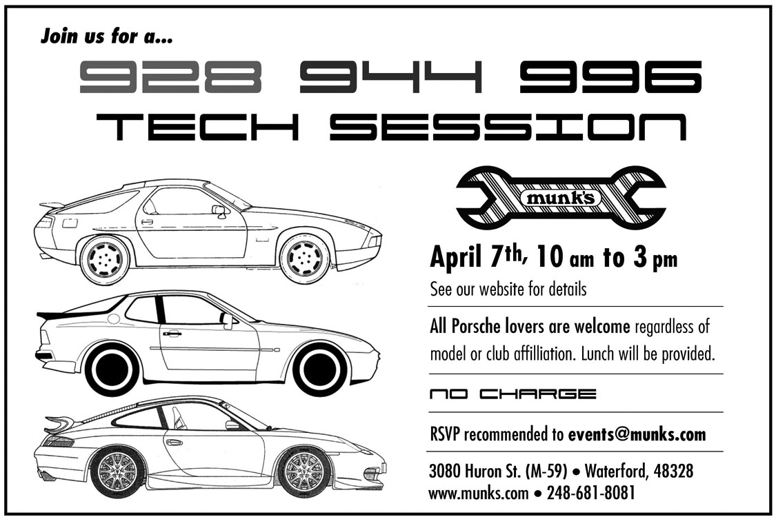 Porsche Tech Session at Munk's