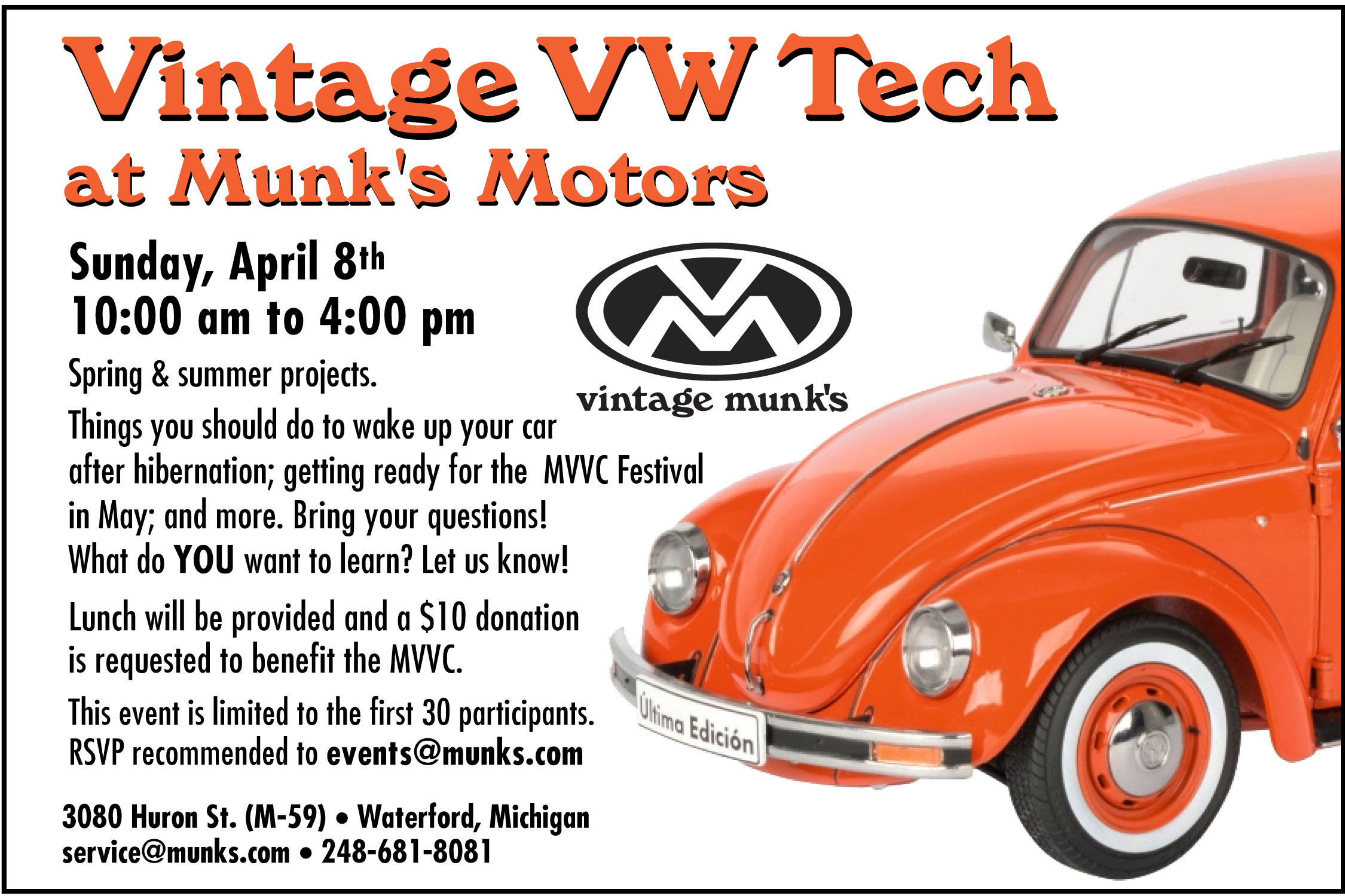 Vintage VW Tech Day