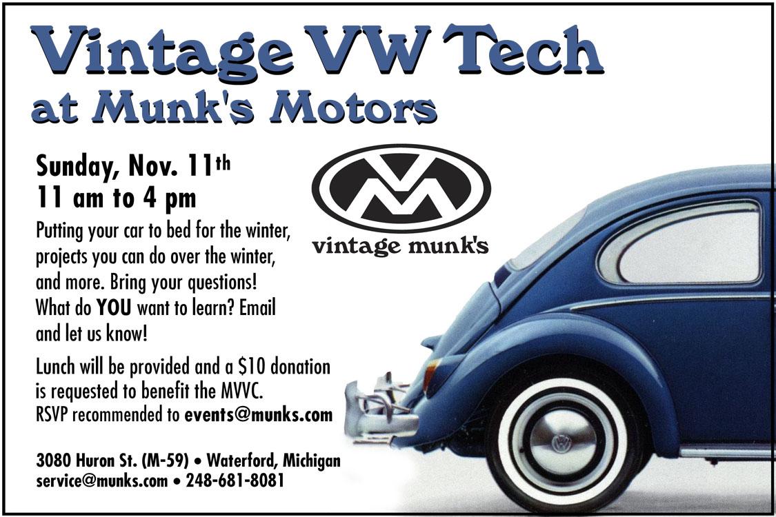 Vintage VW Fall Tech