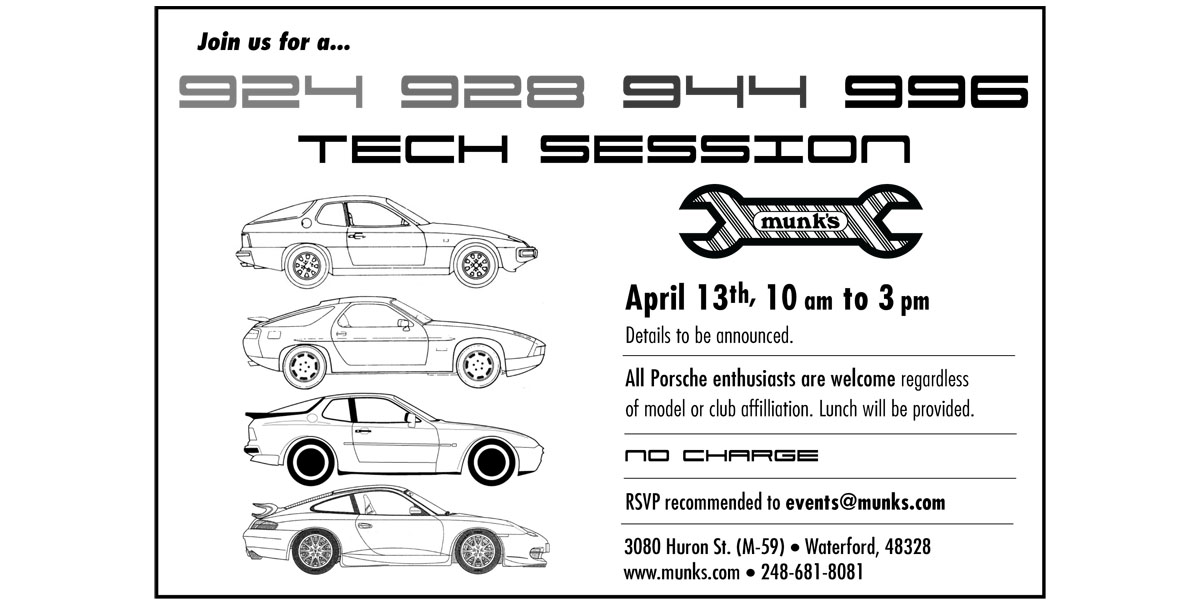 924, 928, 944, 996 Spring Tech Session