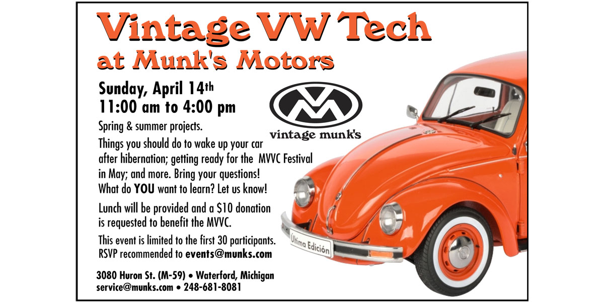 Vintage VW Spring Tech Day